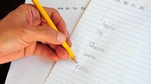 mano sinistra scrivere