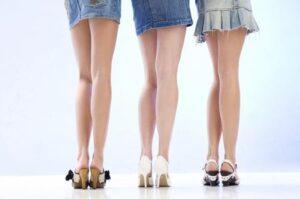 minigonna scarpe
