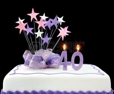 4315727-fancy-torta-con-il-numero-40-candele-decorata-con-nastri-e-star-forme-in-toni-pastello-su-sfondo-ner