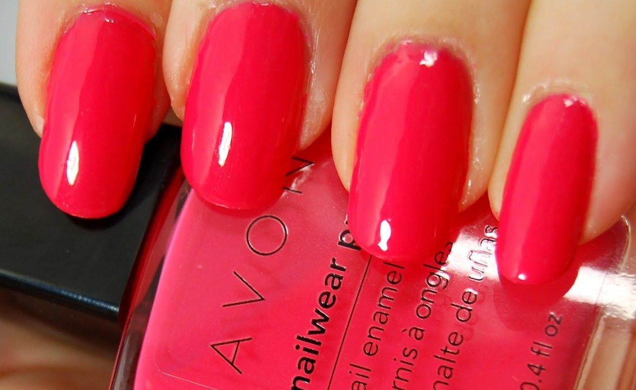 Avon Nailwear Pro+ Nail Enamel in Coral Reef Swatch