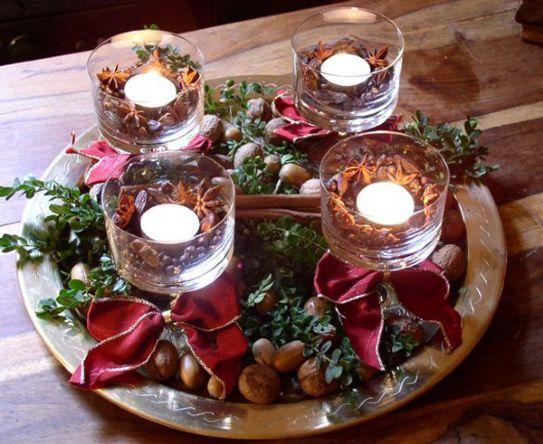 Natale 2014 come creare un centrotavola fai da te - Addobbi natalizi per la tavola fai da te ...