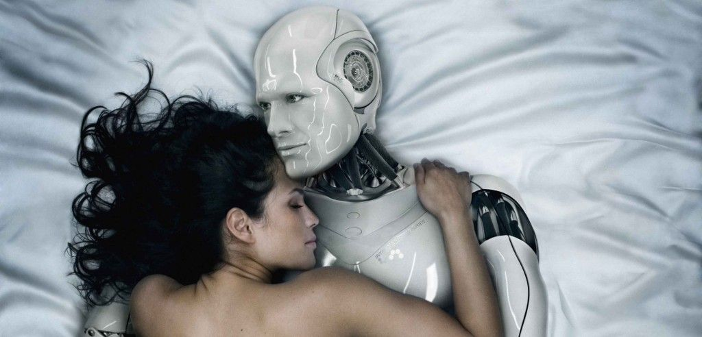 Woman Making Love to Robot --- Image by © Blutgruppe/Corbis