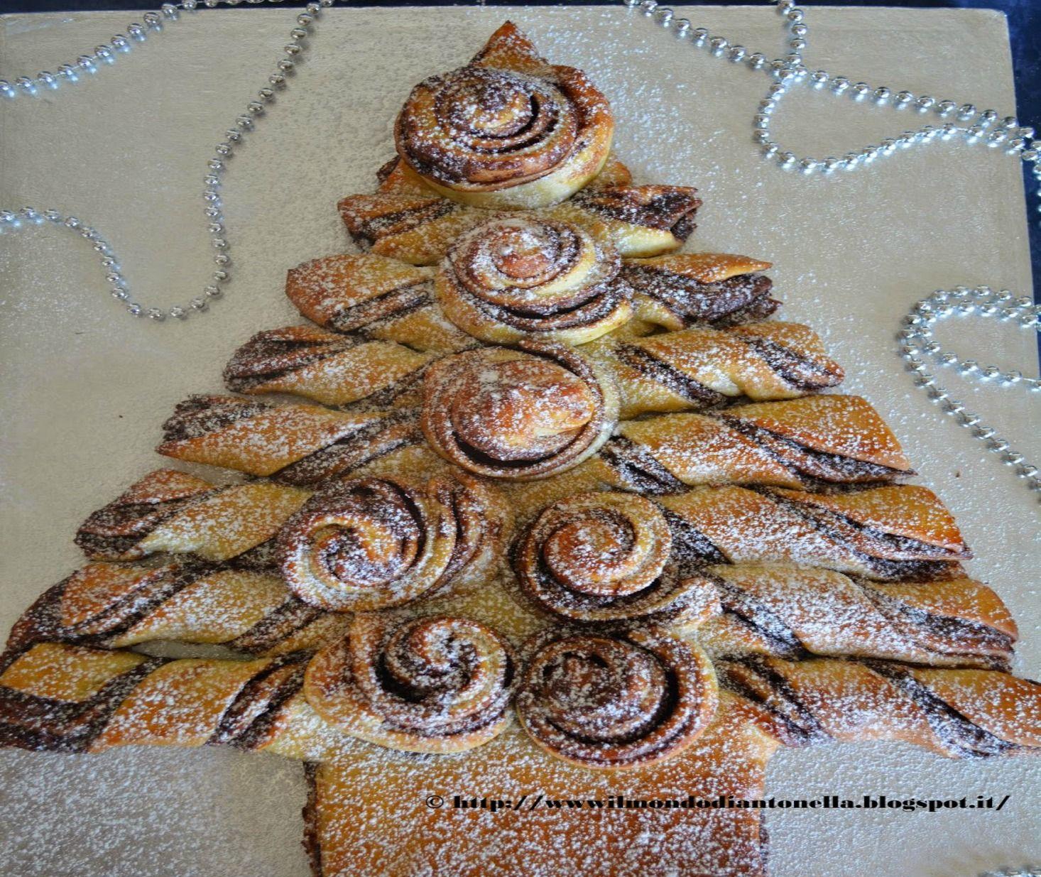 Pan brioche albero di natale alla nutella for A casa con benedetta