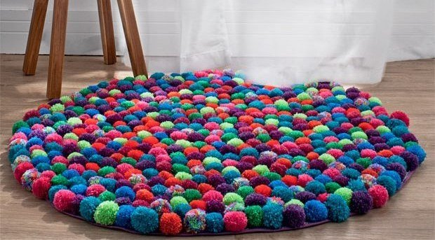 tappeto pompon fai da te (video tutorial)