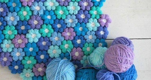 Tutorial per creare un tappeto floreale morbido e soffice