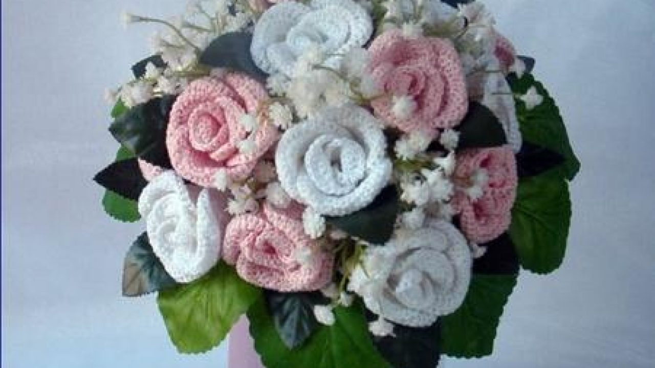 Bouquet Sposa Tutorial.Come Realizzare Un Bellissimo Bouquet Di Rose All Uncinetto