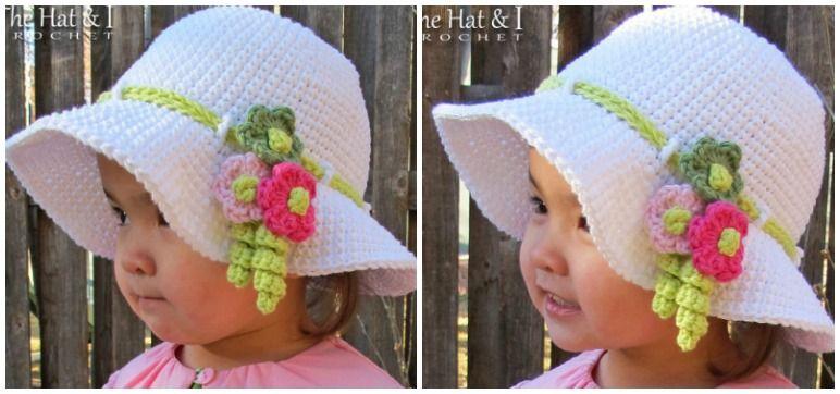 Delizioso Cappellino Alluncinetto Per Bambina Scarica Lo Schema