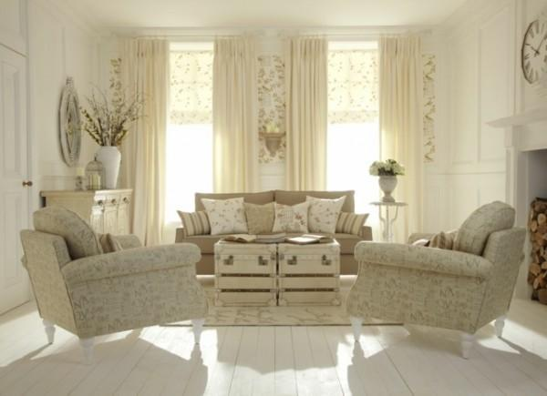 Salotto shabby chic beige for Salotto shabby chic