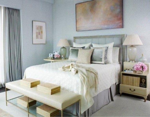 camera-da-letto-con-pareti-azzurro-chiaro - Donnaweb.net