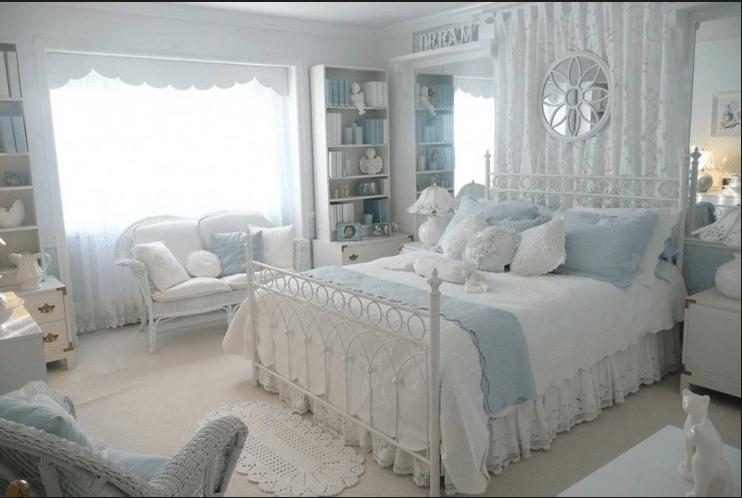Camere letto provenzale bianco azzurro for Camere da letto piccole