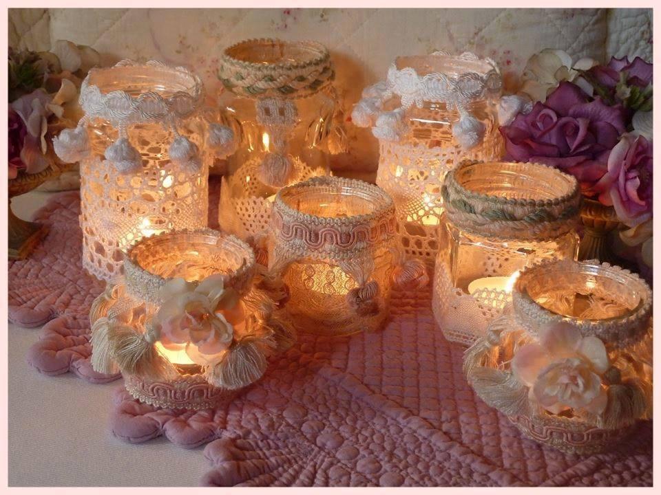 Porta candele fai da te in stile shabby bellissime ed - Porta fai da te ...