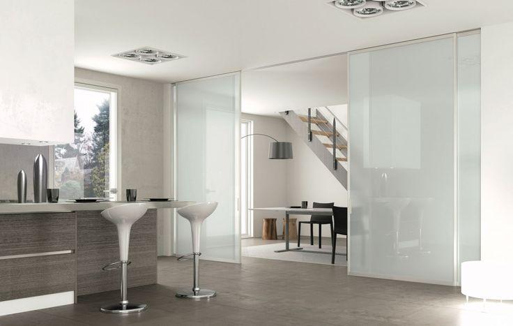 stunning separare cucina da soggiorno contemporary - home ideas ... - Vetrata Soggiorno Cucina