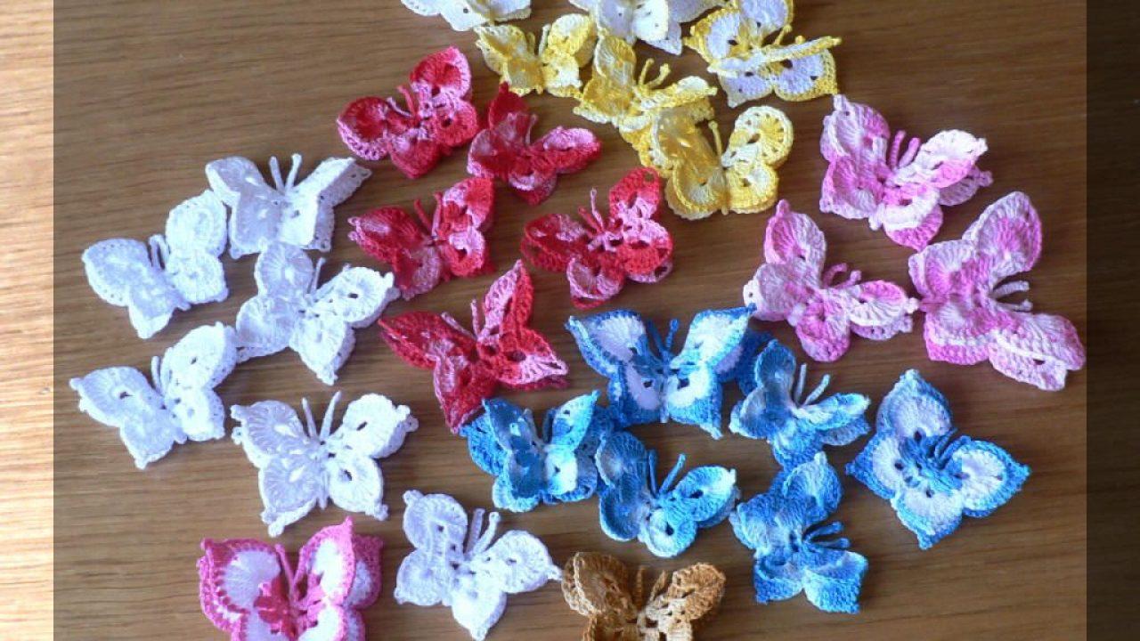 Farfalle Fai Da Te bellissime farfalle all'uncinetto per decorare cornici