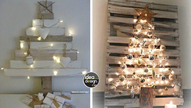 Poco Spazio In Casa Ecco Alcuni Alberi Di Natale Da Muro Fai Da Te