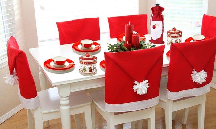 spesso Deliziosi copri sedia natalizi fai da te, senza cuciture (guarda  IM61
