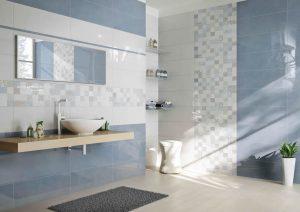 Bellissimi rivestimenti per bagno colorato mosaico o tinta unita