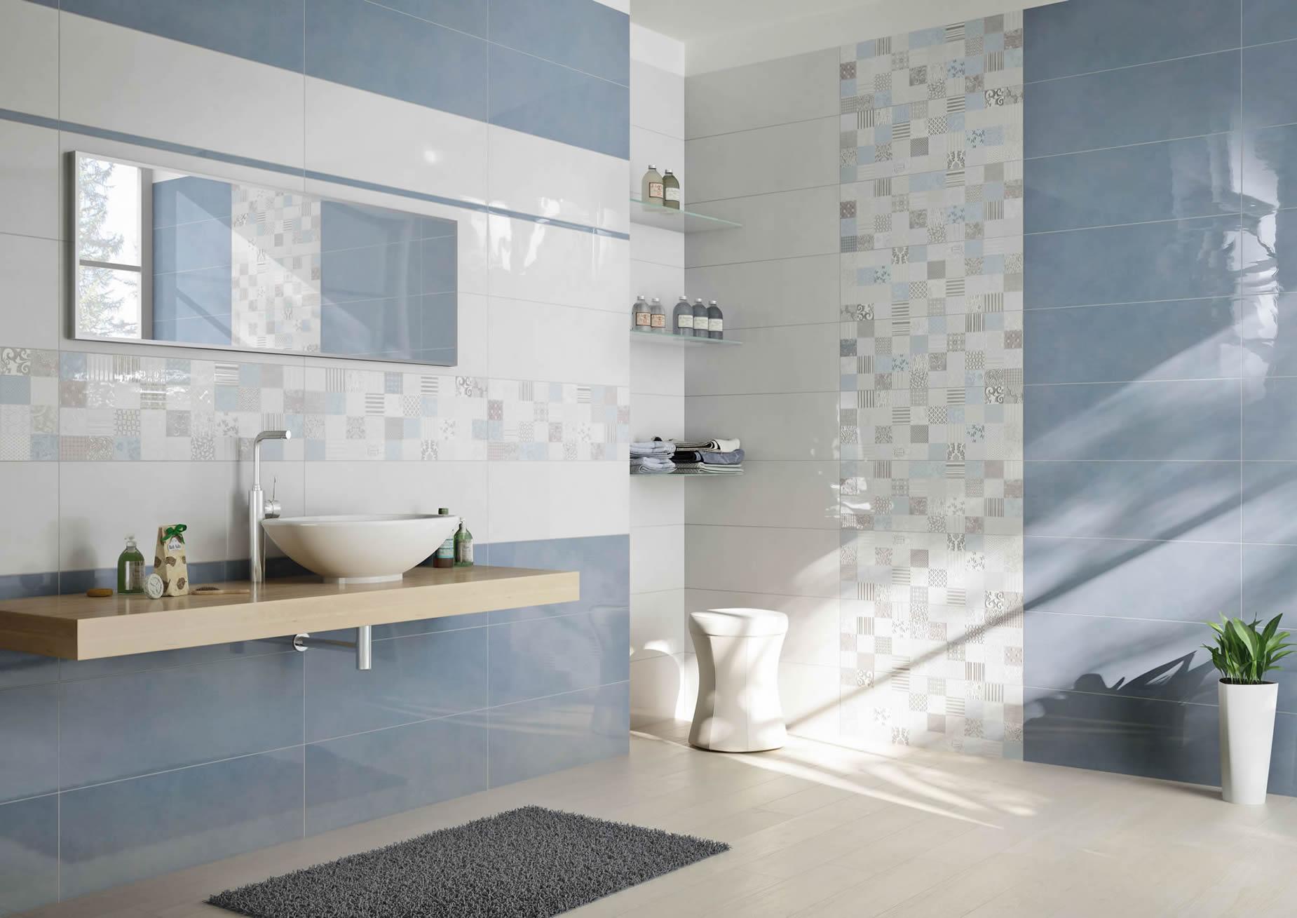Design Bagno Torino : Design rivestimento bagno bianco celeste donnaweb