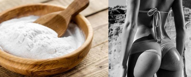 Prova il bicarbonato di sodio sui glutei – Le vostre amiche vi invidieranno per l'incredibile risultato ottenuto