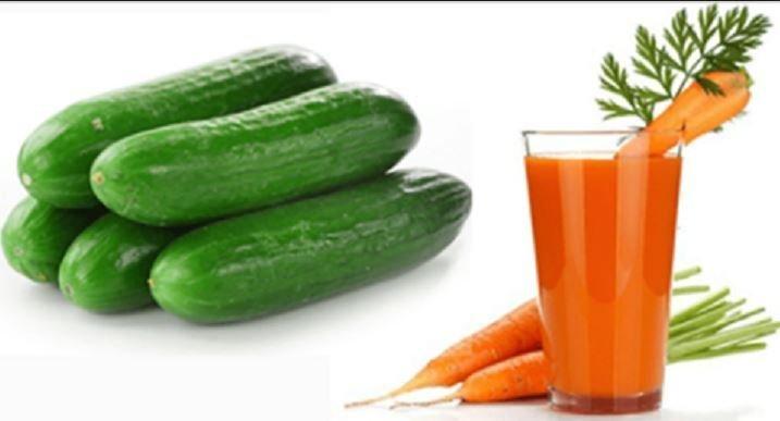 Rimedio fai da te a base di cetriolo e carote per disintossicare e pulire i reni