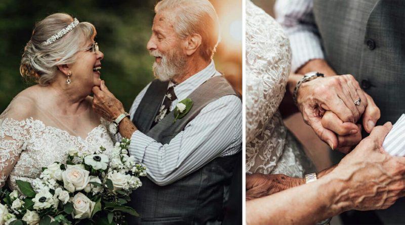I nonni celebrano il sessantesimo anniversario, la nipote fa degli scatti che vi faranno commuovere