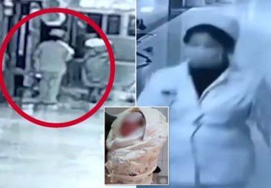 Rapitore vestito da infermiere prende un neonato e va via – Le telecamere mostrano l'impensabile