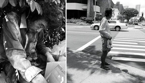 Faceva foto artistiche sui senzatetto da 10 anni – Ma non sapeva che uno di loro era suo padre