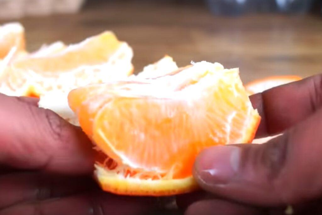 incisione finita dell'arancia