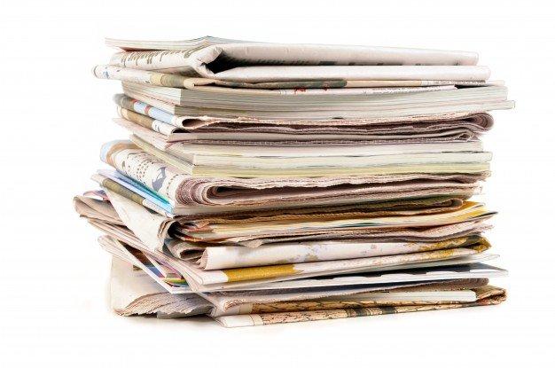 Giornale, utile per avvolgergli l'avocado